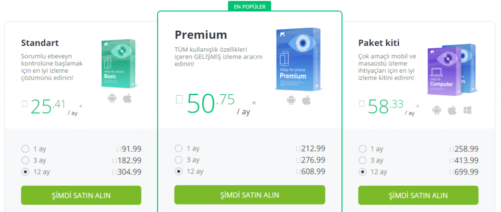mspy paket fiyatları